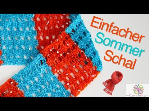 Einfachen Sommer Schal Häkeln - Window Stich - YouTube