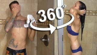 360 SHOWER VLOG!! GUY vs GIRL thumbnail
