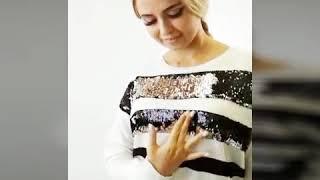 Обзор женского свитера с пайетками меняющими цвет