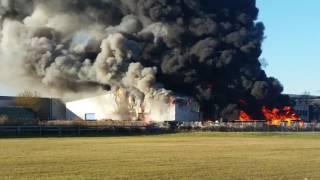 Brand in Waalwijk industrieterrein