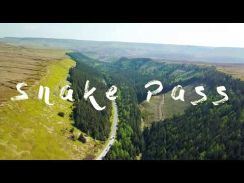 Aerial Film Of The Snake Pass In Derbyshire