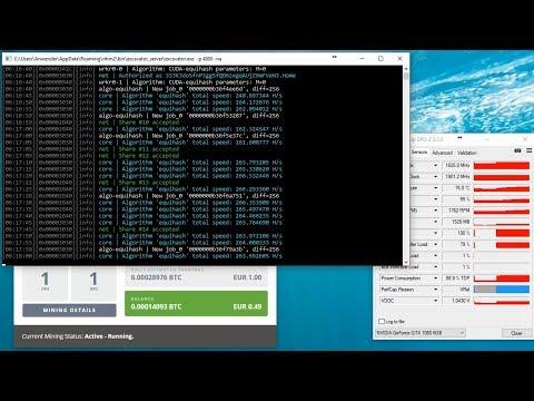 Mining Nvidia GeForce GTX 1080 TI 11GB Mining Performance Review Ethereum /ZCash / Nicehash