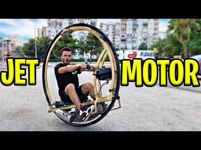 TEK TEKERLİ MOTOR YAPTIK!!