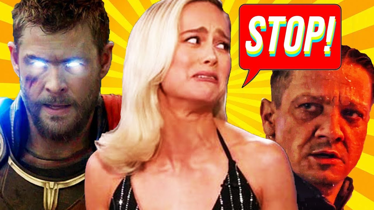 Brie Larson Roasted By Avengers Endgame Cast Interview Chris Hemsworth Don Cheadle Jeremy Renner