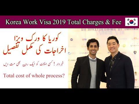 South Korea Work Visa 2020  - Total Charges & Fee