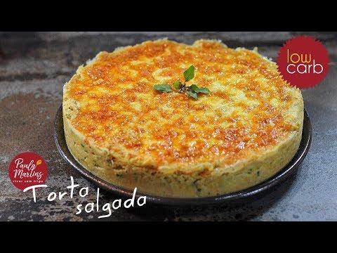 Viver sem Trigo por Paula Martins - Como fazer torta salgada Low carb (Couve-flor)
