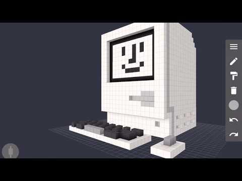 Macintosh Voxel Speed Art with 3D Pixel Artist