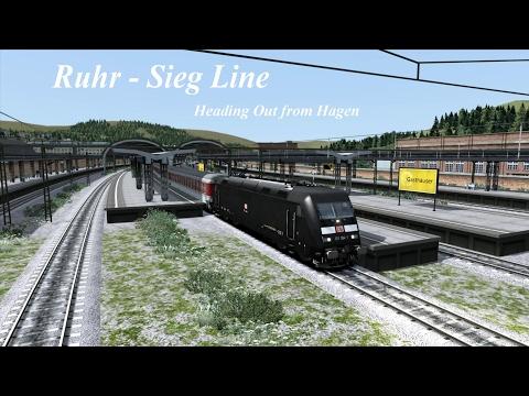 Ruhr - Sieg LIne - Heading Out of Hagen - 4K - Train Simulator  