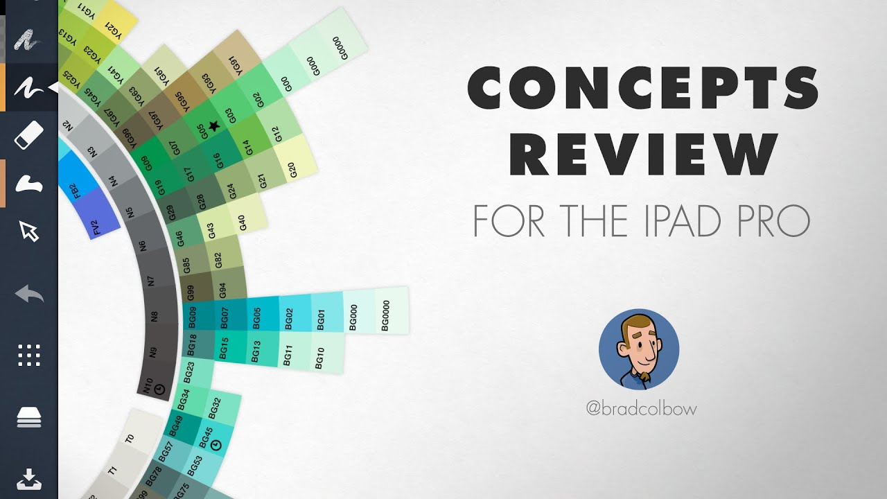 Review Concepts Drawing App For The Ipad Youtube