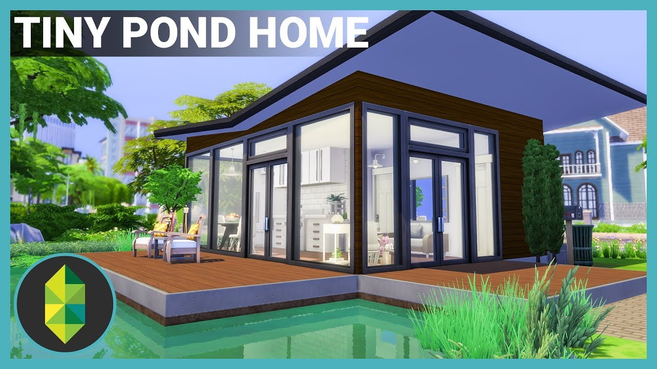 Tiny Pond House The Sims 4 House Building Youtube