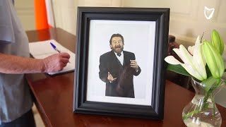VIDEO: Brendan Grace remembered as book of condolence opened for late comedian