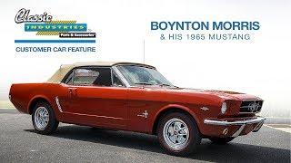 Boynton Morris and his 1965 Mustang  8-10-17