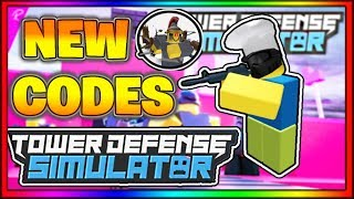 Tower Defense Simulator Codes - Roblox 2019