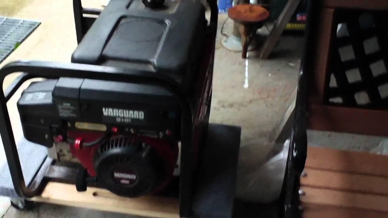 Coleman 9hp Vanguard 4600 Watt Generator Youtube