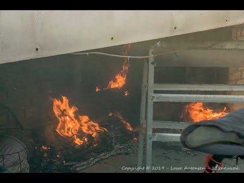 Brand i etageejendom på Motalavej i Korsør