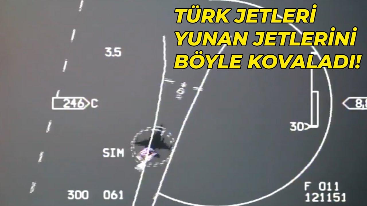 Türk F-16'ları, Yunan F-16'larını işte böyle kovaladı!