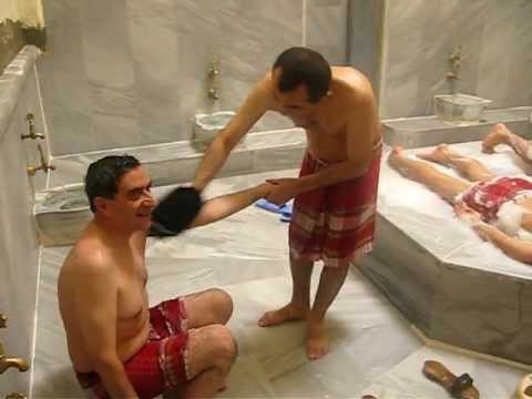 Global Spa Summit 2010 Turkish Bath in the town of Bursa very funny hamam treatments
