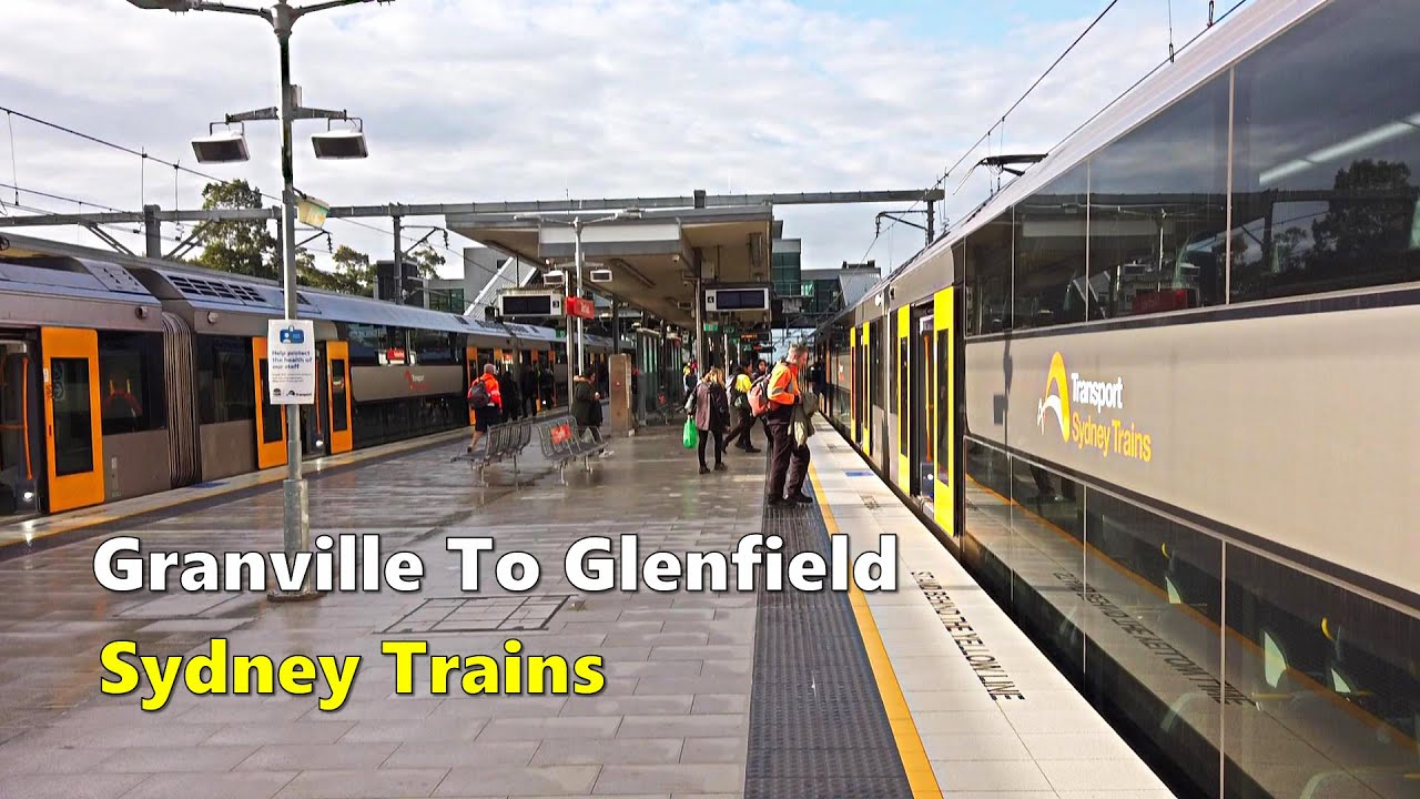 Train Ride From Granville To Glenfield, T2 Inner West & Leppington Line | Sydney Train