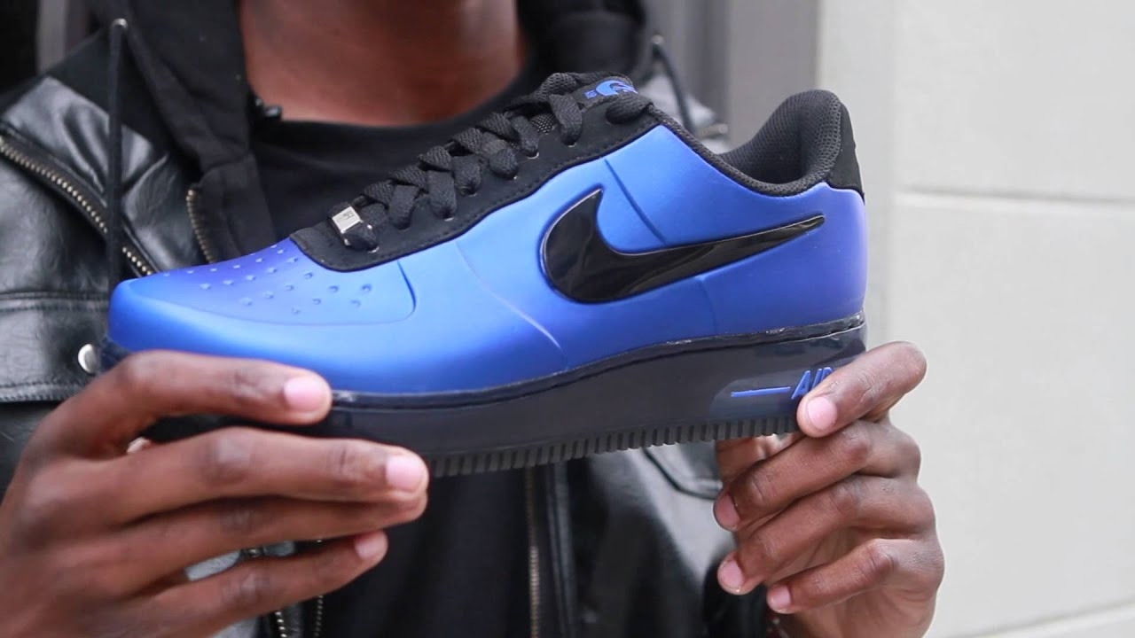 0aec7f3c61f1e Nike Air Force One Foamposite Pro Low - Live Look - YouTube