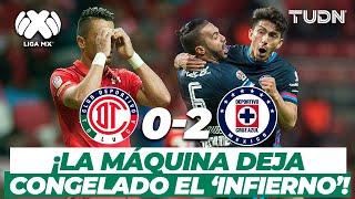 ¡Qué baile! Cruz Azul brinda un juegazo en el 'Infierno'! | Toluca 0-2 Cruz Azul CL-2017 | TUDN