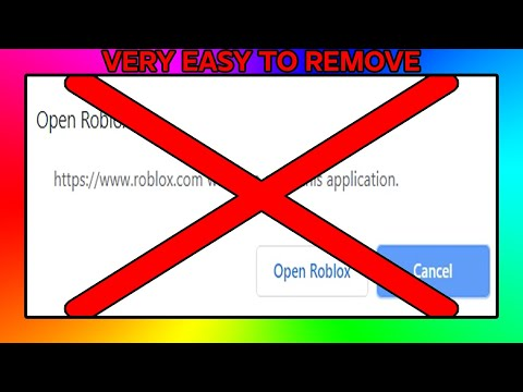 How To Remove The Open Roblox Pop Up Roblox Tutorial Youtube