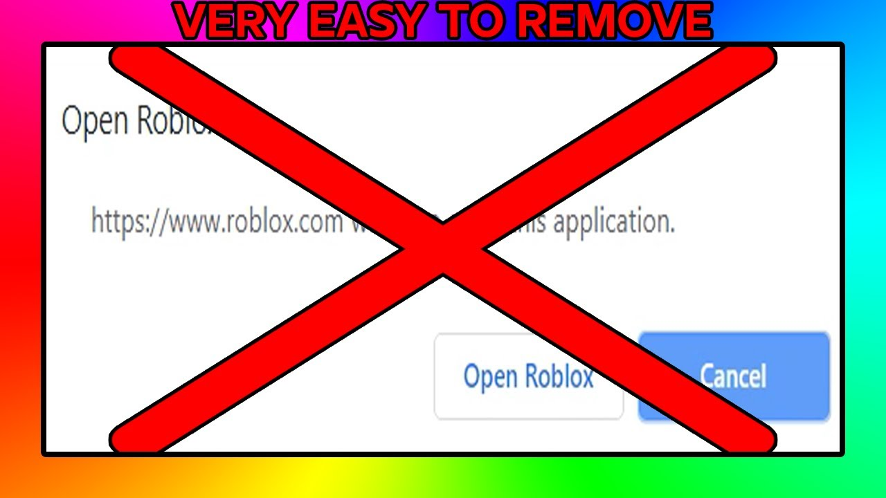 How To Make Chrome Always Open Roblox How To Remove The Open Roblox Pop Up Roblox Tutorial Youtube