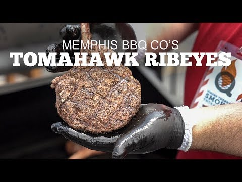 Tomahawk Ribeyes with Memphis BBQ Co.