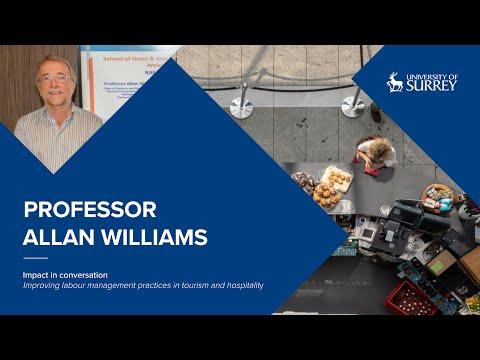 Play video: Impact in Conversation: Professor Allan Williams | University of Surrey