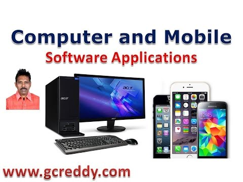 Computer and Mobile Software Applications