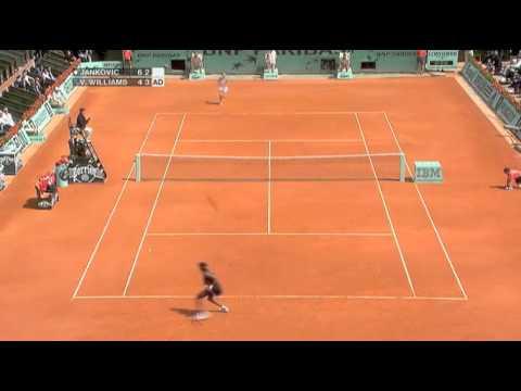 [HL] Jelena Jankovic v. Venus Williams 2007 Roland Garros [R3]