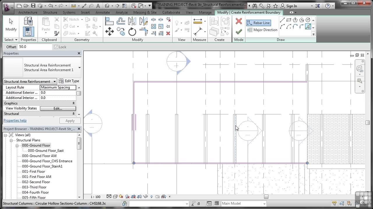Revit Structure 2014 Tutorial Reinforcing Walls Floors