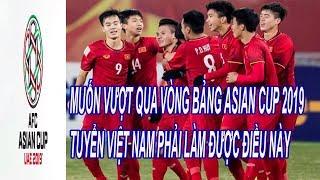 Muốn Vượt Qua Vòng Bảng Asian Cup 2019 Thì Tuyển Việt Nam Phải Làm Được Điều Này