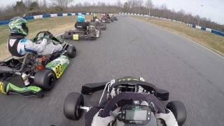 2017 GoPro Motorplex Karting Challange Round 1 Briggs LO206 Senior Pre-Final