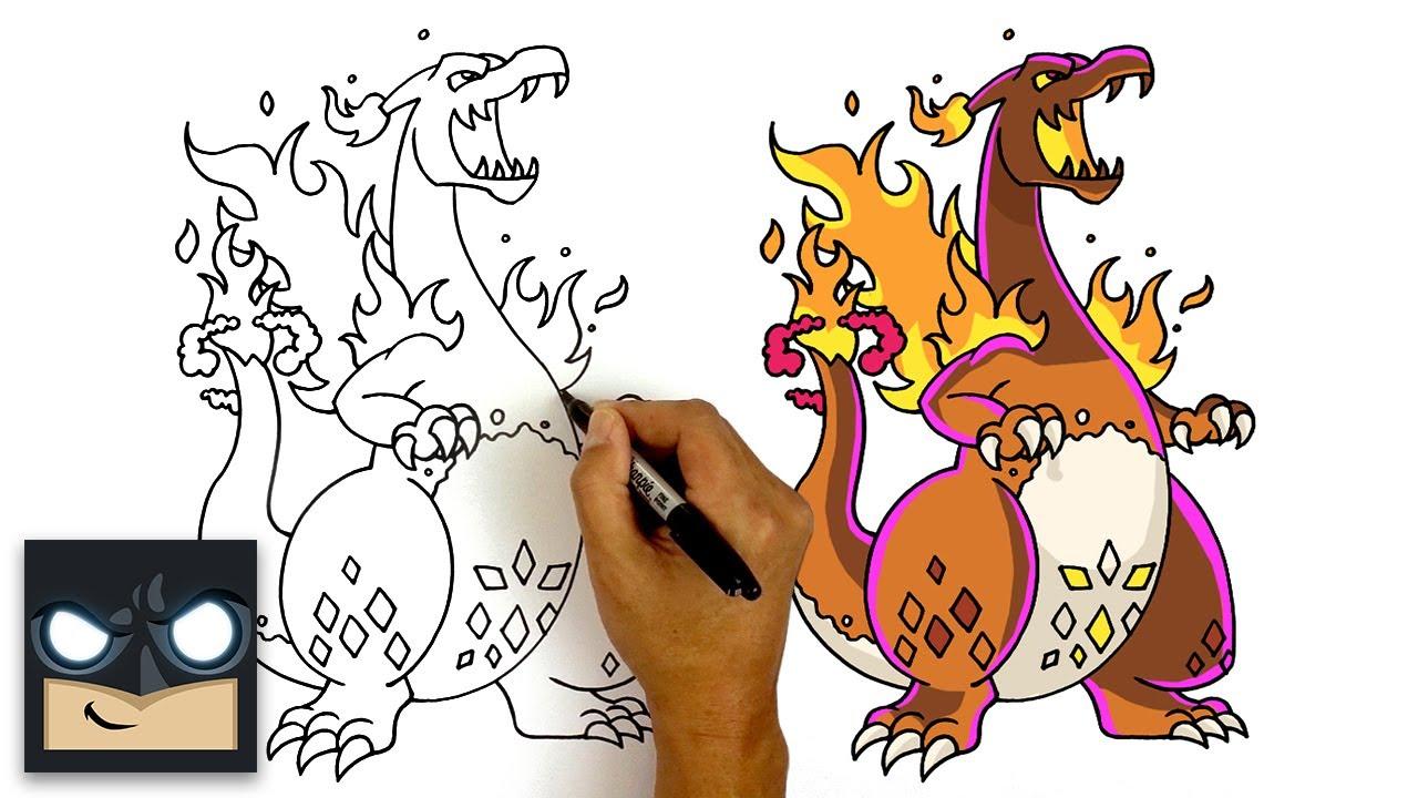 How To Draw Gigantamax Charizard Pokemon Sword And Shield Youtube