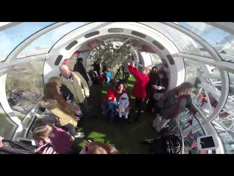 360 degrees of happiness at the Coca-Cola London Eye