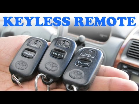 Toyota Sequoia Programming The Keyless Entry Remote S Doovi