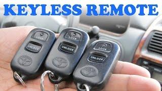 toyota keyless remote programming