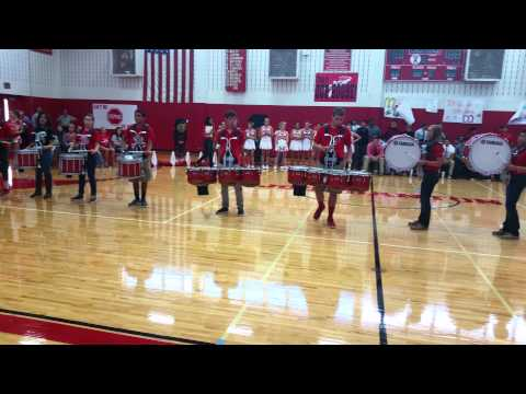 Jourdanton Drumline 2014 - Cadences at Pep Rally