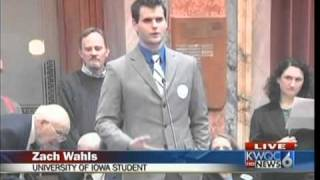 zach wahls interviewed on kwqc tv 6 news