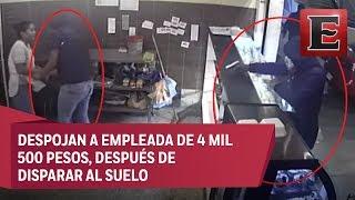 En 35 segundos 'hornean' robo de pastelería en Venustiano Carranza