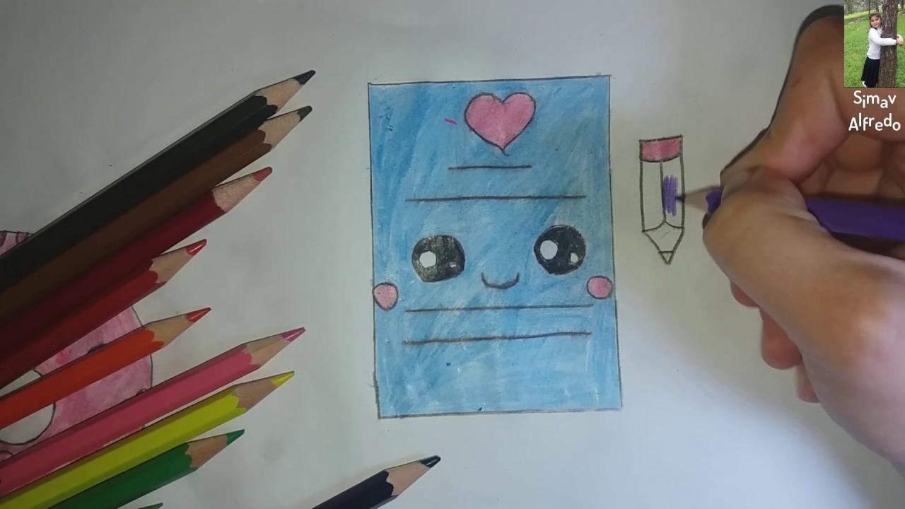 طريقة رسم كتاب وقلم How To Draw A Book And A Pen مع سيماف Youtube