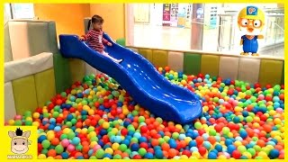 Indoor Playground Fun for Kids and Family Play Slide Rainbow Colors Balls Learn | MariAndKids Toys