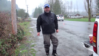 fishing with bent rod chilliwack vedder river steelhead boot laces