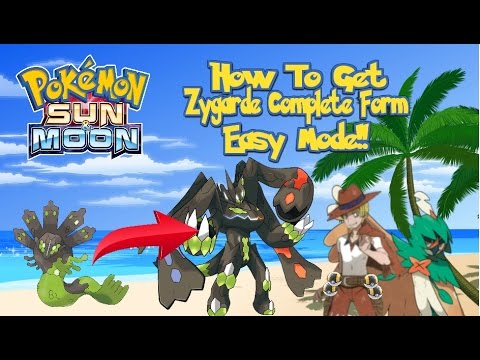 pokemon sun and moon how to get zygarde 100 form easy mode youtube