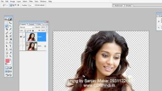 Learn Photoshop in hindi- 13 - Hair Cutout remove background