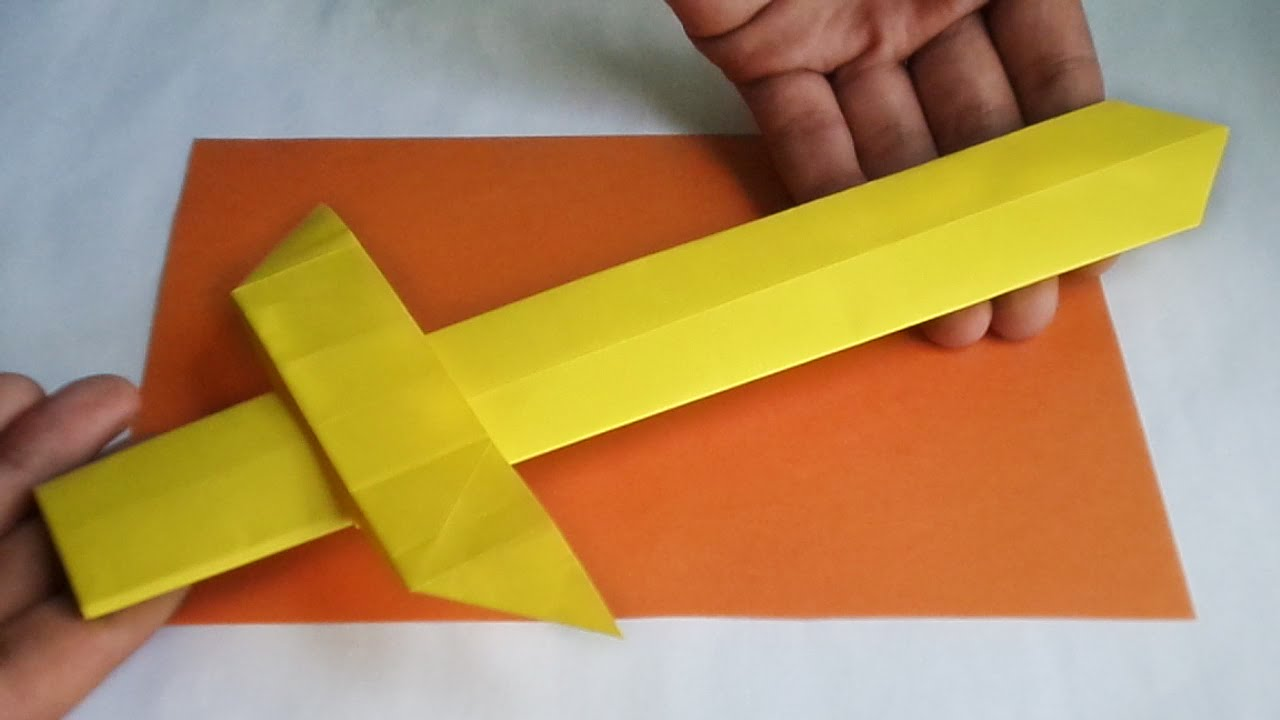 Origami Sword An Style Gladiator Youtube