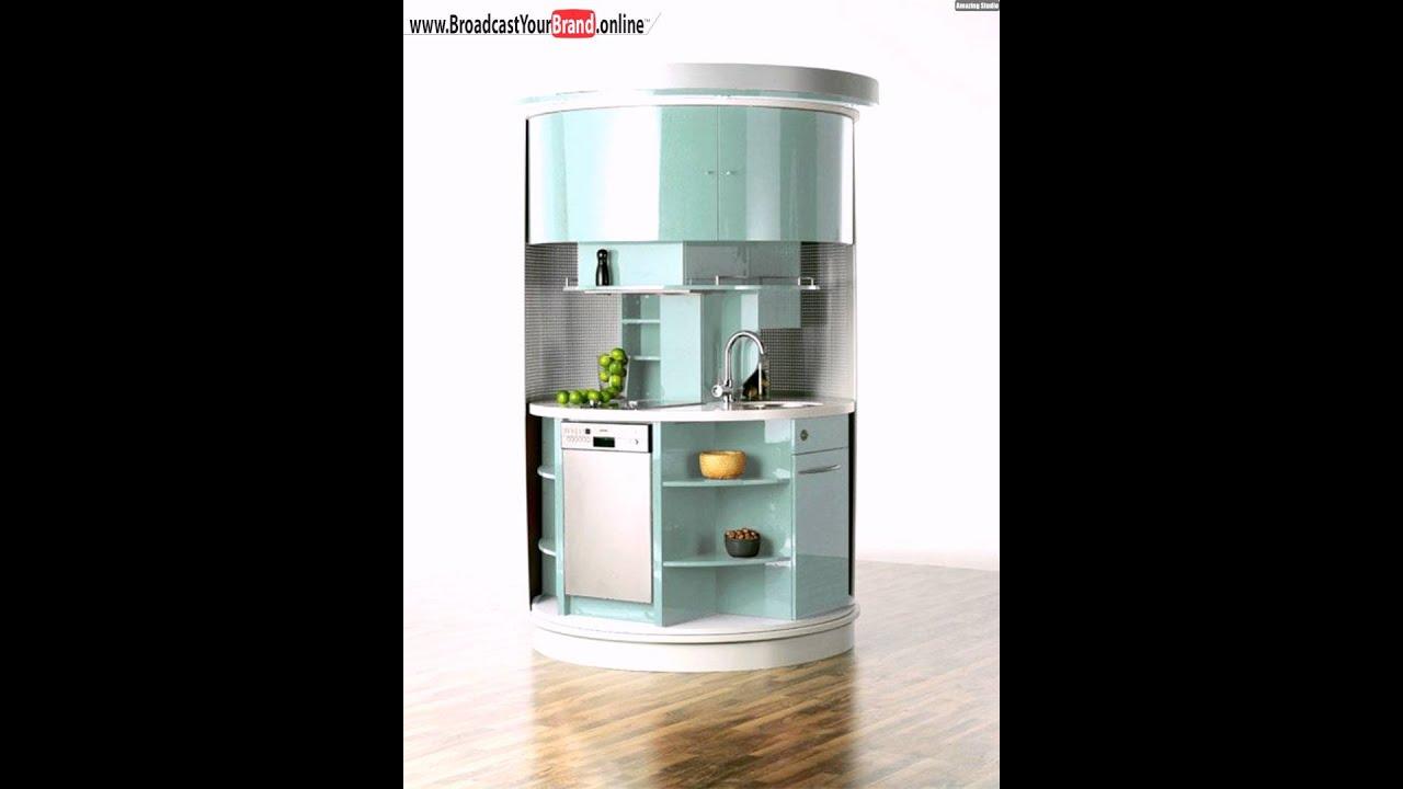 Runde Drehbare Küche Clever Intelligentes Küchenkonzept Grün ...