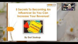 Discover 5 Secrets To Become An Influencer!