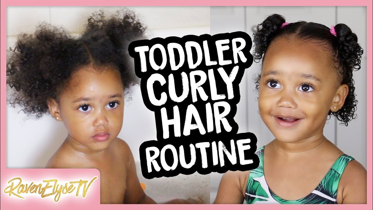 Ziya's *UPDATED* Curly Hair Routine | Easy Hairstyles for Toddlers