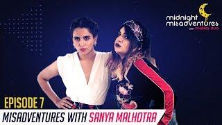 Watch Sanya Malhotra teach epic #DanceMoves to Shalishka |Midnight Misadventures with Mallika Dua-E7